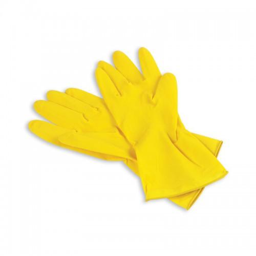 Перчатки: резиновые латексные плотность высокая S с хлопковым напылением