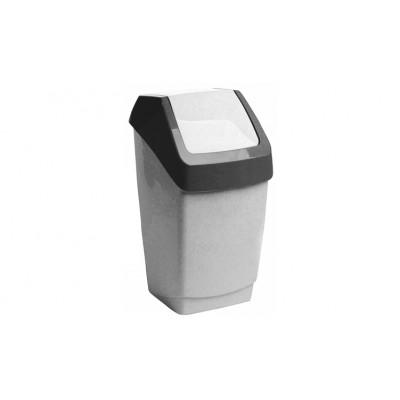 Ведро 15л пластик с качающейся крышкой для мусора ХАПС (м2471)