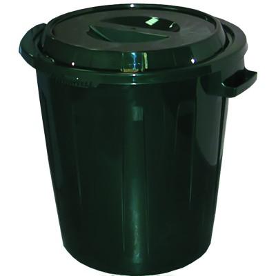 Бак 60л для мусора пластик с крышкой (39466)