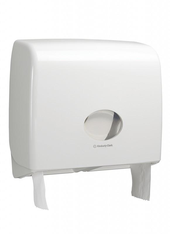 Диспенсер Аквариус для туал.бумаги в рулоне (23,5 см), бел./38,2x44,6x13,0 см  6991