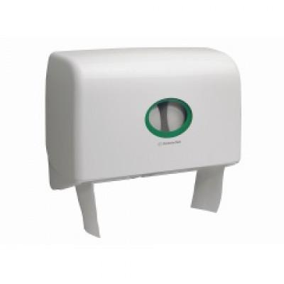 Kimberly-Clark: Диспенсер Аквариус Мини Jumbo для туалетной бумаги 2 рулона белый 6947