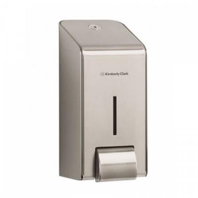 Kimberly-Clark: Диспенсер 1 литр для жидкого мыла металлический 8973