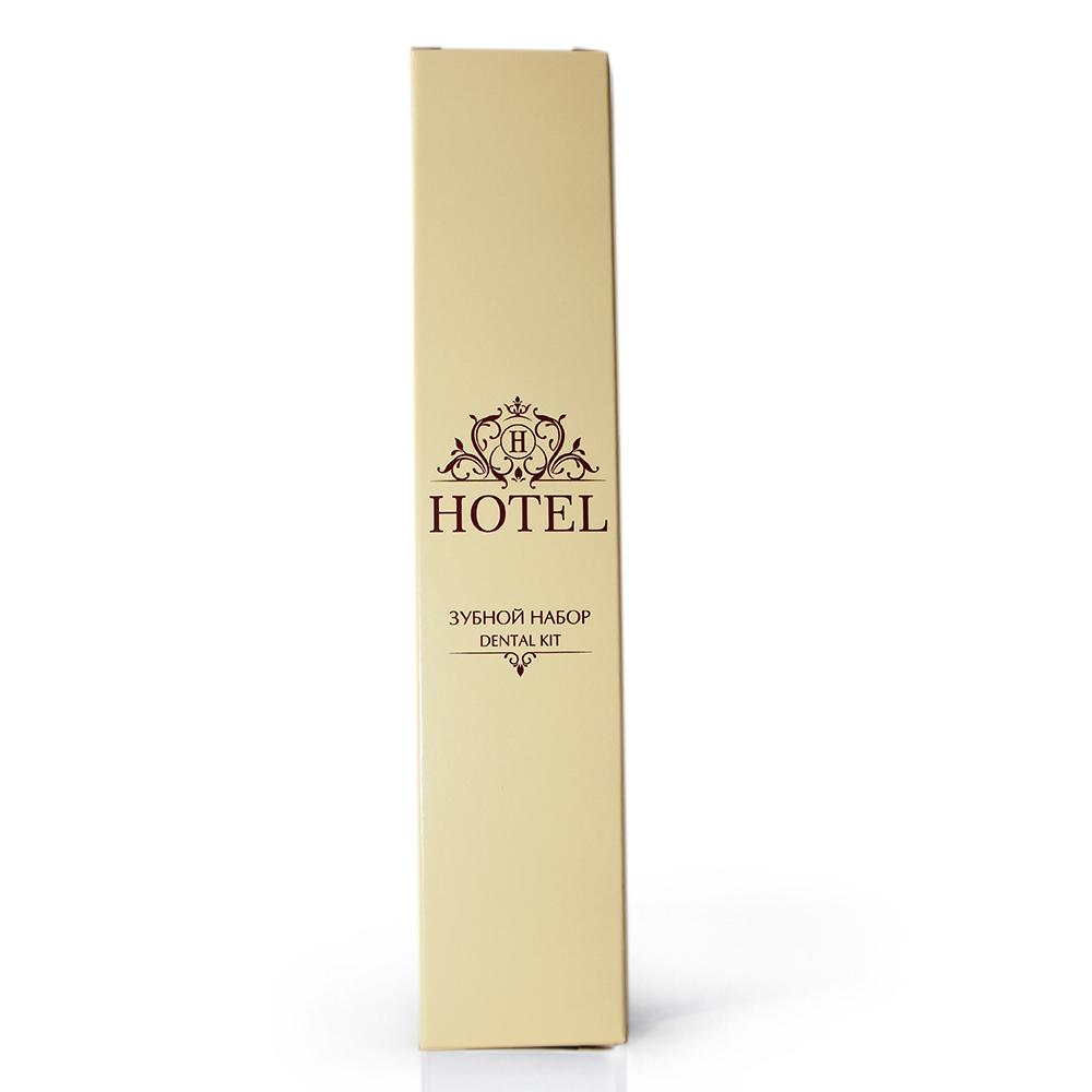 Зубной набор HOTEL (зубная щетка +зубная паста в САШЕ 4гр.), в КАРТОНЕ