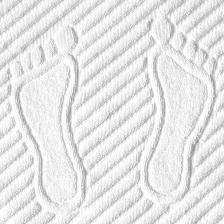 Махровый коврик для ног. Цвет - Белый 700гр/м2