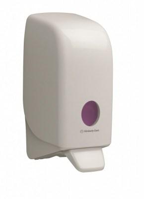 Диспенсер Аквариус для жидкого мыла, бел./11×12×24 см 6948 Image 0