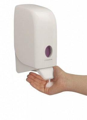 Диспенсер Аквариус для жидкого мыла, бел./11×12×24 см 6948 Image 1
