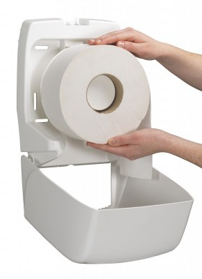 Диспенсер Аквариус для туал.бумаги в рулоне (20 см), бел./32×15×25 см 6958 Image 1