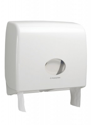 Диспенсер Аквариус для туал.бумаги в рулоне (23,5 см), бел./38,2x44,6x13,0 см  6991 Image 0