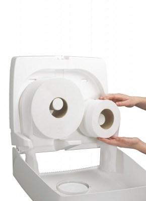 Диспенсер Аквариус для туал.бумаги в рулоне (23,5 см), бел./38,2x44,6x13,0 см  6991 Image 1