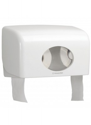 Диспенсер Аквариус для туал.бумаги на 2 стандартных рулона, бел./30×18×13 см  6992 Image 0