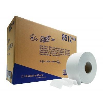 Kimberly-Clark: Бумага туалетная Скотт Джамбо Мини 200 метров 2-слойная белая8512 Image 1