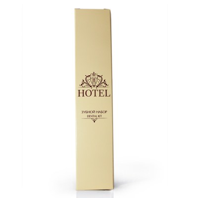 Зубной набор HOTEL (зубная щетка +зубная паста в САШЕ 4гр.), в КАРТОНЕ Image 0