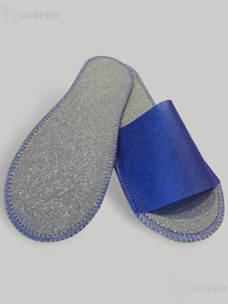 Тапочки Стандарт ЛАЙТ (белые/синие)