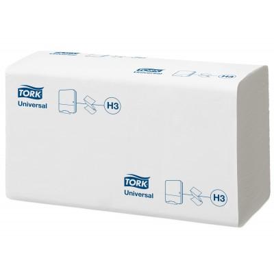 Tork: Полотенца бумажные H3 Universal Singlefold 250 листов 1-слойные 23х23 см белые 120108