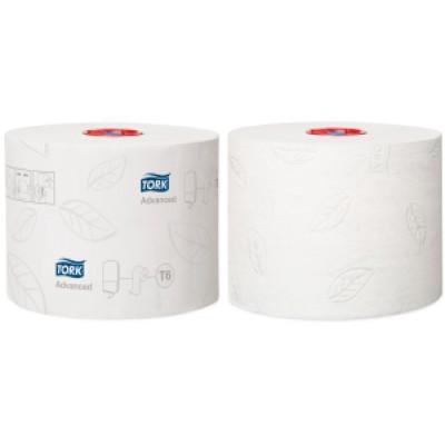 Tork: Бумага туалетная T6 Advanced 100 метров двухслойная компактный рулон127530