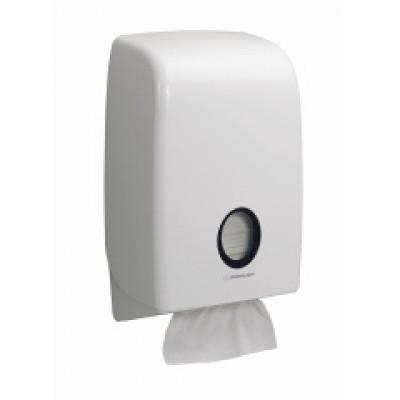 Kimberly-Clark: Диспенсер Аквариус для полотенец в пачках белый 6945