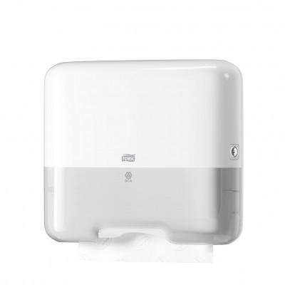 Tork: Диспенсер H3 Elevation Singlefold мини для полотенец в пачках белый 553100