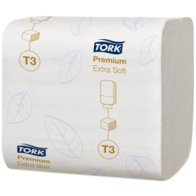 Tork: Бумага туалетная T3 Premium 252 листа листовая двухслойная114276