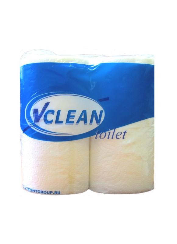 Бумага туал.рулонная Виклин 23м/2сл/4 рулона белая, станд.рулоны(1018082)